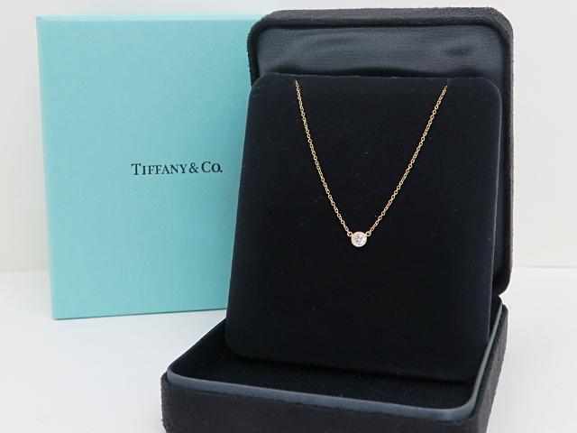 size 40 3449d 1440d ティファニー バイザヤード ダイヤモンド ネックレス 750YGの ...