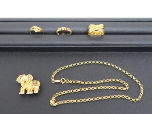 18金の指輪やネックレスなど 2019年9月買取
