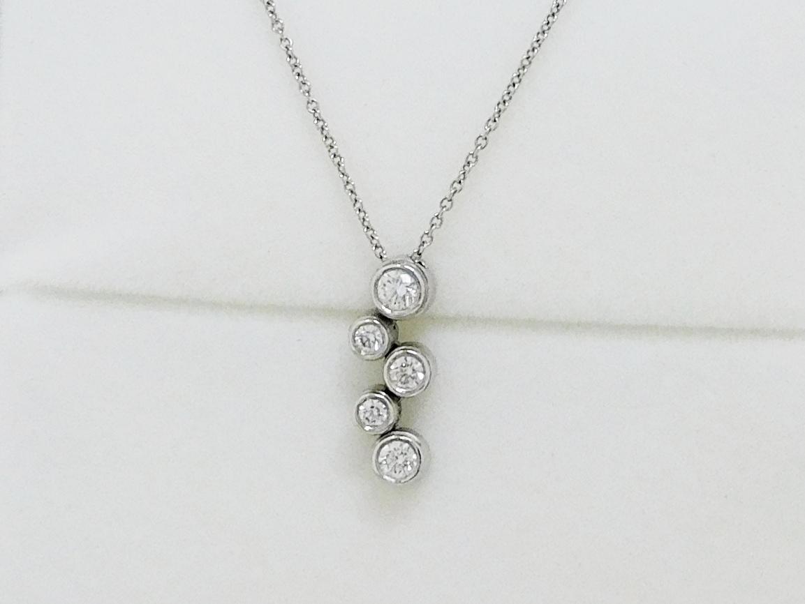 ティファニー Pt950バブルダイヤネックレス