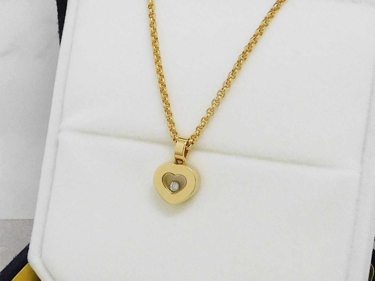 ショパール ハッピーダイヤネックレス YG750
